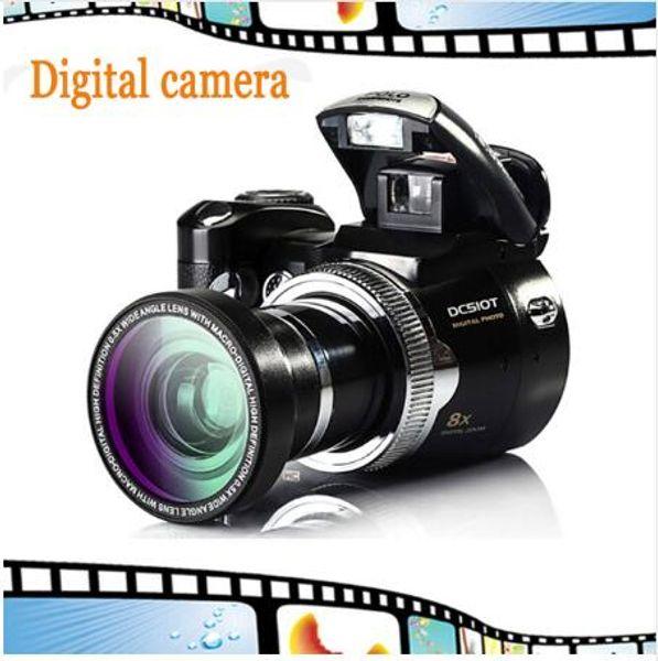 Digital SLR Camera 5MP CMOS Digital Sensor 8X Zoom Beautiful Video Camera Li-Battery Cheap Brand Camera