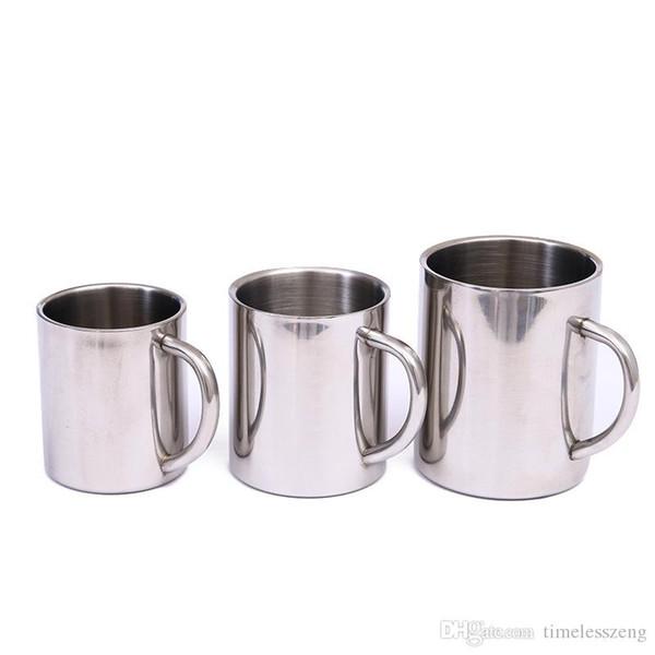 acd1bfa9ff1 1pcs 220ml 300ml 400ml Stainless Steel Portable Mug Cup Double Wall Travel  Tumbler Coffee Mug Tea Cup