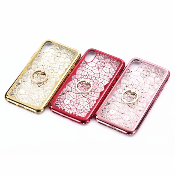 3D Queen Ring Kickstand Special Design Soft diamond For female Phone Case For Iphone X Phone Case