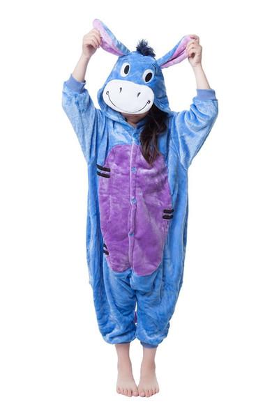 Onesies de burro para crianças Onesie Pijamas Kigurumi Jumpsuit Hoodies Sleepwear para crianças (sem garra) Bem-vindo Atacado Ordem