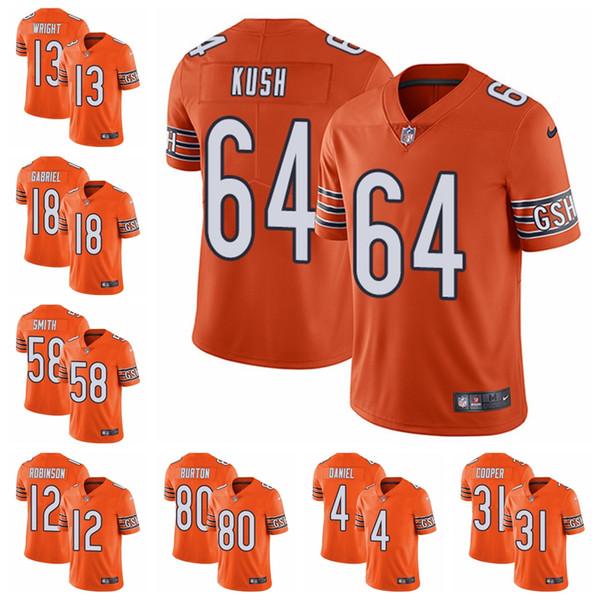 hot sale online 49cb2 a6e83 2019 Chicago Limited Alternate Football Jersey Bears Orange Vapor  Untouchable 52 Khalil Mack 10 Mitchell Trubisky 54 Brian Urlacher 31 From  ...