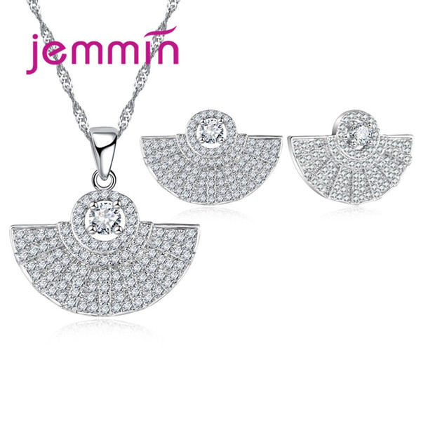 Jemmin Noble Delicate Half Round Jewelry Set New Arrival 925 Sterling Silver Fine Jewelry For Women Star Wedding Gift.