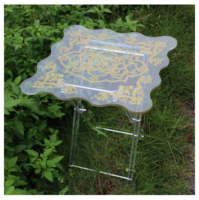 Hot sell odm design clear acrylic folding table from shenzhen