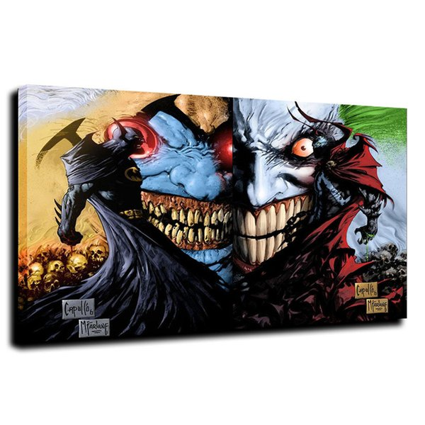 Batman Clown,Canvas Prints Wall Art Oil Painting Home Decor /(Unframed/Framed)