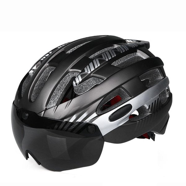 1 PC Cycling Helmet Glasses Goggles for Women&Men Bicycle Equipment Safety Hat Detachable Magnetic Goggles Helmet Ciclismo