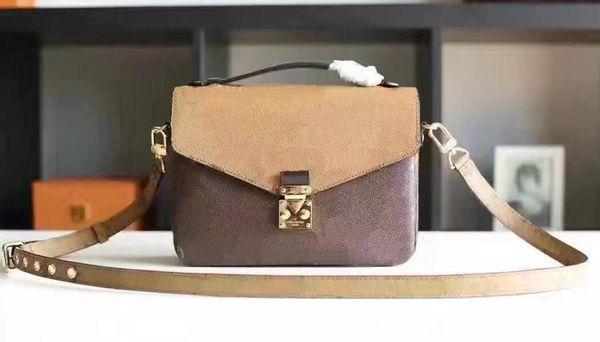 hohe Qualität echtes Leder Damen Handtasche Pochette Metis Umhängetaschen Umhängetaschen M40780