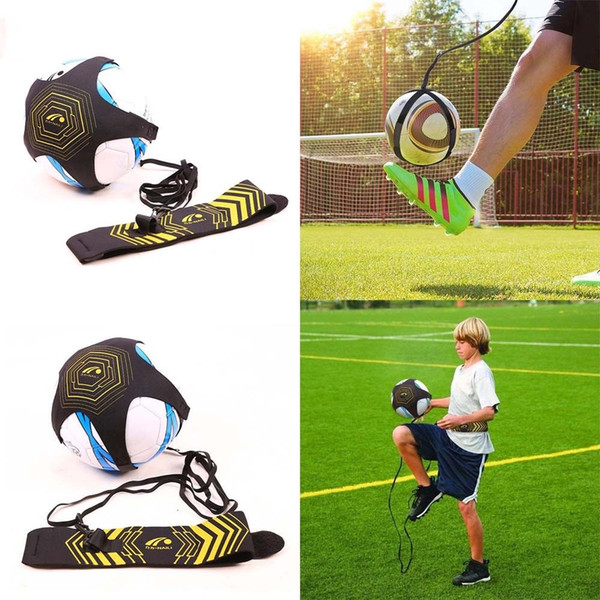top popular Soccer Football Kick Throw Trainer Solo Practice Aid Skill Waist Belt Adjustable Football Belt Trainer 2021