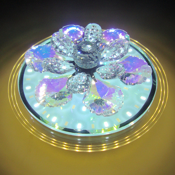 New Round LED third gear change crystal aisle lights modern entrance corridor home lighting