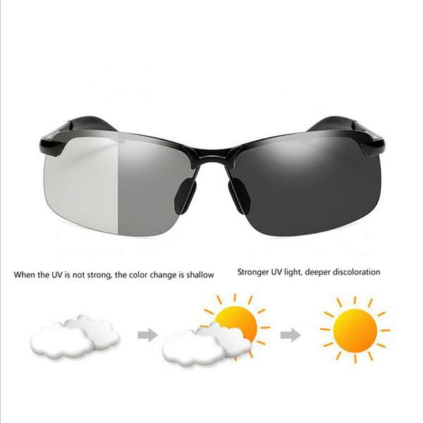 Condução Photochromic Óculos De Sol Dos Homens Polarizados Camaleão Descoloração óculos de Sol para homens óculos gafas de sol hombre