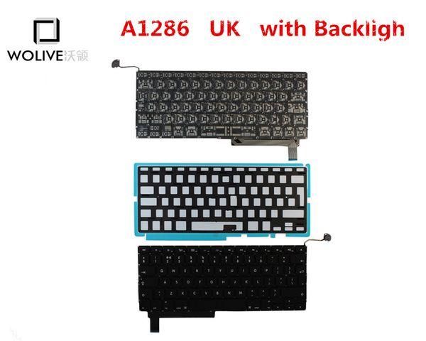 Véritable nouveau clavier A1286 UK pour Macbook Pro 15
