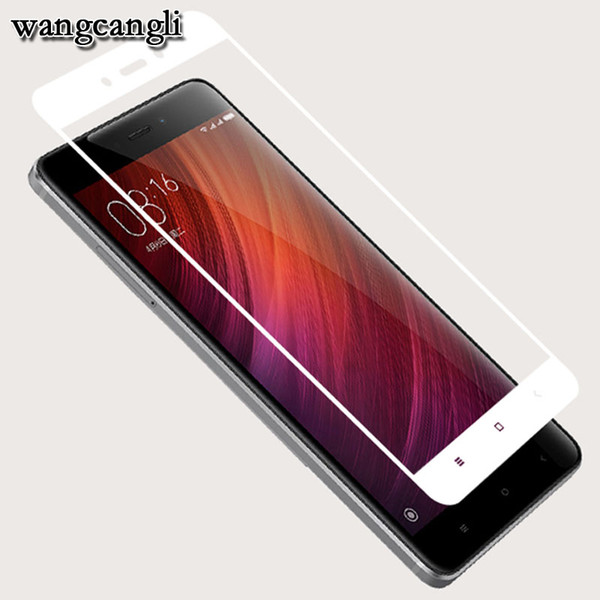 Wangcangli 3D Tempered glass For xiaomi redmi 4X film glass on for xiaomi redmi Note 4X protective Full Cover 9H 3d cover