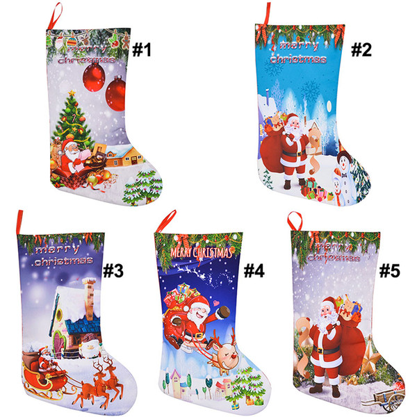 christmas stocking gift bags felt cloth christmas tree sock xmas candy storage bag festive party supplies xmas decorations bag wx9 786