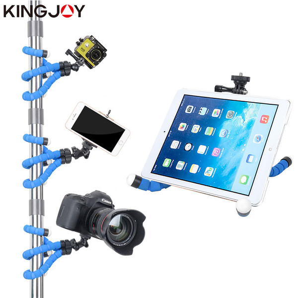 Toptan KT-600S Mini Tripod Ahtapot Para Movil Gopro Telefon Kamera Smartphone Için Esnek Cep Işkembe Celular Tutucu Standı