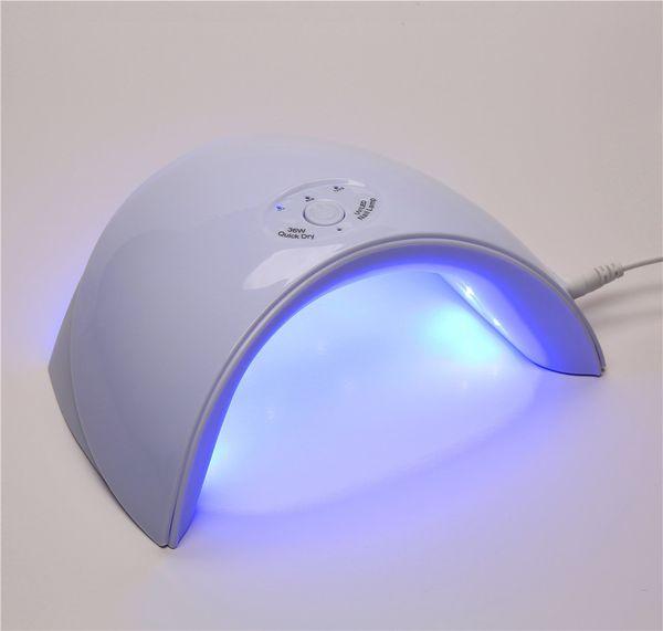 2018 New 36W UV LED Lamp Nail Dryer 12pcs LEDs Nail Lamp for Gel Polish Varnish USB Cable Time Setting Manicure Art Tools