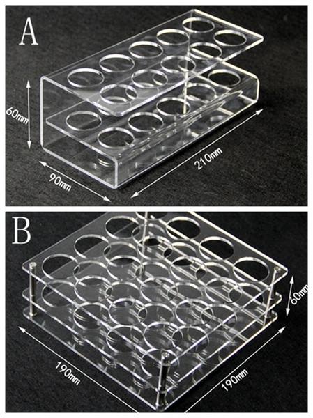 Display de acrílico transparente suporte de prateleira vape rack show case para 10 pcs ou 16 pcs 60 ml garrafas de plástico e líquido eJuice DHL