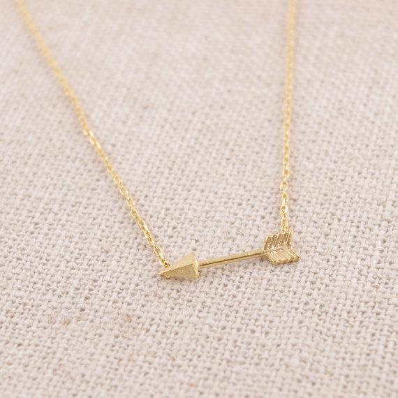 small bow and arrow Symbol of love necklace fashion gold-plated bow arrow geometry weapon female gift necklace free shipping wholesale