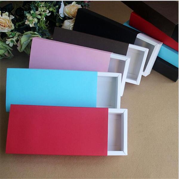 30 unids cajas de regalo de cartón de papel kraft para la boda caja de embalaje de Navidad calcetines pantyhose caja de almacenamiento