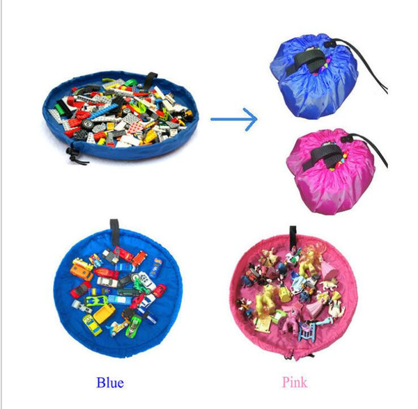 top popular 45cm baby playing rugs playmats toys storage bags for children organizer blanket portable kids outdoor beach mat toy storage bags 2021