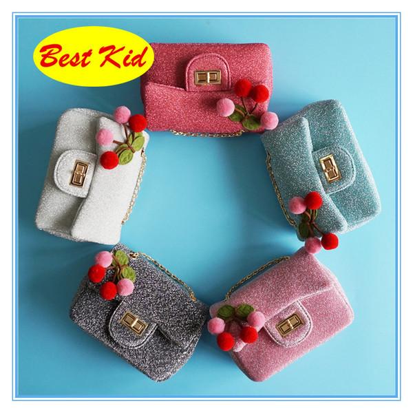 BestKid Taschen! Kleines Kind Schöne Kirsche taschen für Kinder Baby Mädchen Nette Designer Geldbörse Teenager Kleinkinder Kleine Taschen SMT033