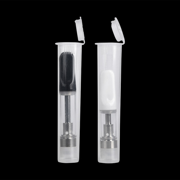 Newest Childproof plastic tube for thick oil vape cartridges packaging pp tube fit for 510 thread vape tank atomizer free shipping