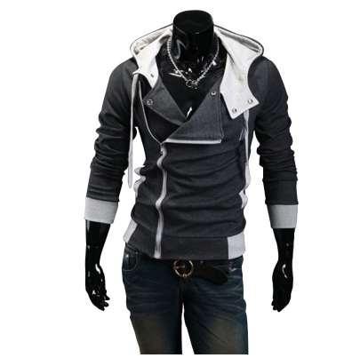 Rahat Hırka Erkekler Hoodies Sweatshirt Uzun Kollu Slim Fit Erkek Fermuar Hoodies Assassins Creed Ceket Artı Boyutu M-6XL