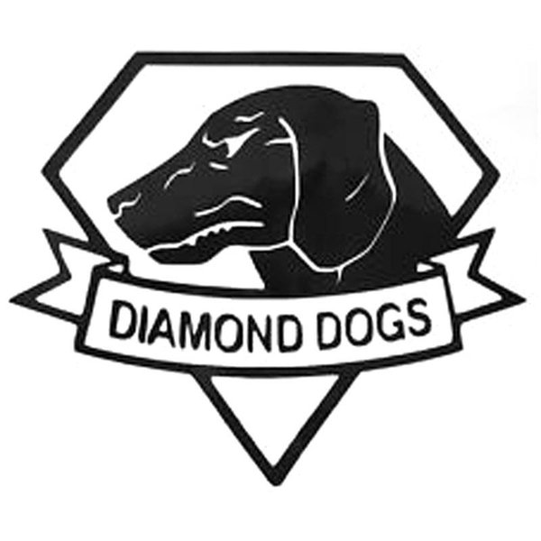 Wholesale HotMeiNi Car Styling Metal Gear Diamond Dogs Log Vinyl Stickers Decal Car Sticker