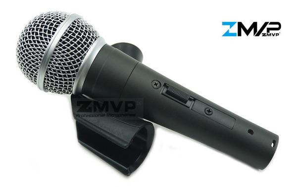Kostenloser Versand! Hochwertige Version S 58 S Gesang Karaoke Dynamisches Handmikrofon 58S Real Transformer Ein / Aus-Schalter