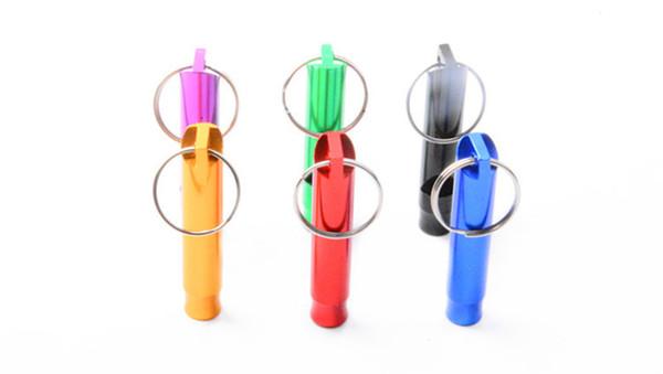 Ultrasonic Dog Training Whistle Aluminum Pet Dog Training Whistle Flute Portable Keychain Whistle Dog Trainings Supplies