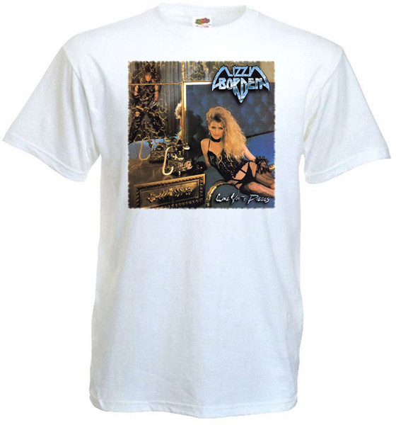Shirt Sale Printed O-Neck Short-Sleeve Lizzy Borden Love You To Pieces T-Shirt White Poster All Sizes S To 3XL Tee For Men
