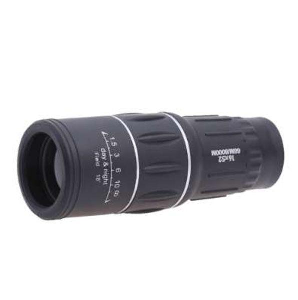 1X Mini Portable Outdoor Camping Monocular Telescope Magnification 7 Times Black