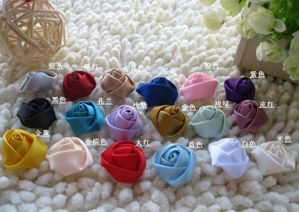 Wholesale-100 Stücke / Los 8CM gehen künstliche Seidenrosen-Mehrfarbenblume für Hochzeits-Inneneinrichtungs-Blumen voran