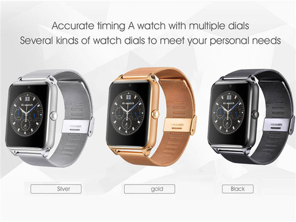 best selling Bluetooth Smart Watch Phone Z60 Stainless Steel Support SIM TF Card Camera Fitness Tracker GT08 GT09 DZ09 V8 Smartwatch for IOS Android