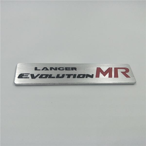 For Mitsubishi Lancer Evolution MR Logo Metal Aluminum Emblem Stickers Exterior Accessories