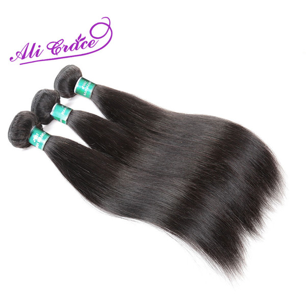 ALI GRACE Hair Peruvian Straight Hair Natural Color 100% Remy Human Weave 1 Bundle 10-28 inch Free Shipping