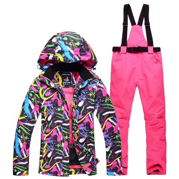 suche nach echtem zarte Farben heißer verkauf billig Großhandel Skijacke + Skihose Damenmodelle Dicke Warme, Winddichte,  Wasserdichte Bergsportjacke Anzuganzug Damen Von Shinysun, $112.07 Auf ...