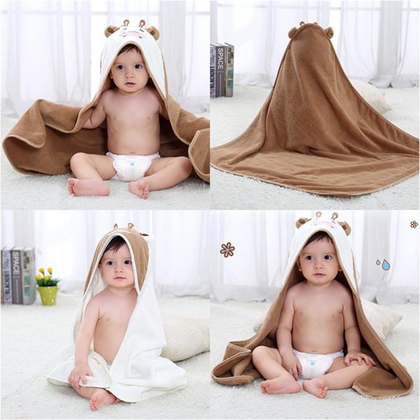 2018 Hot Sale Baby Boys Girls Cape Cloak Towels Newborn Cotton Bath Towel Infant Soft Cartoon Hooded Towels
