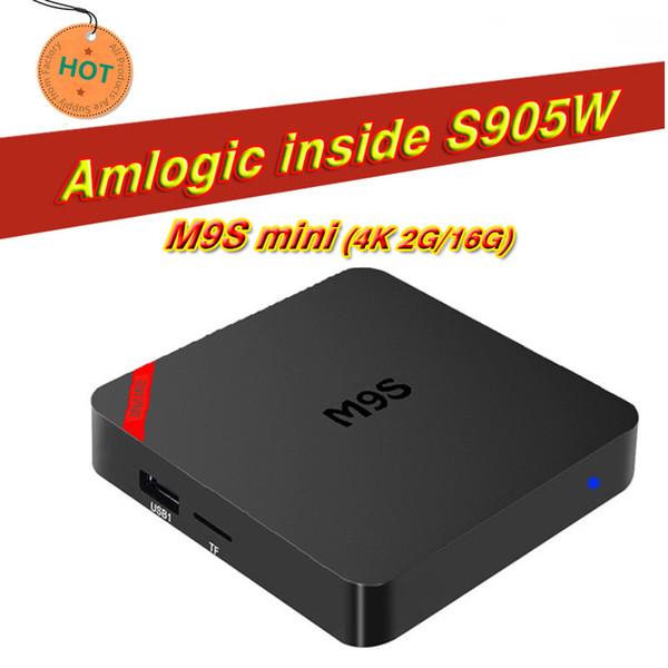 Best M9S Mini TV BOX 2GB 16GB Quad Core Amlogic S905W Smart Box Android 7.1 Media Player support 3D