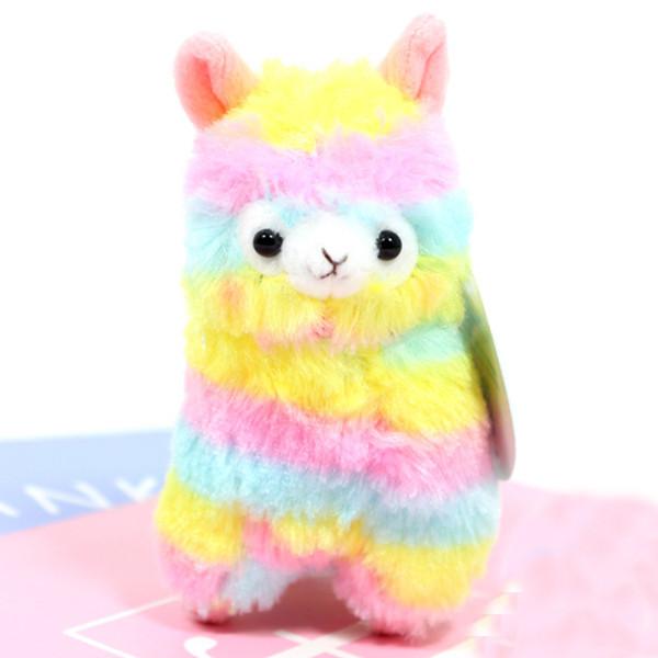 Hot Cute Rainbow Alpacasso Kawaii Alpaca Pendant Soft Small Plush Toys Holiday Gifts Beautiful Ornaments Decoration