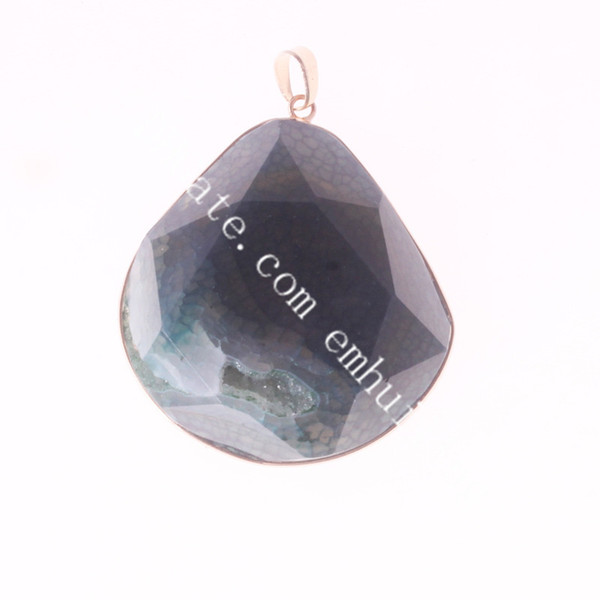 gold plated navy agate geode