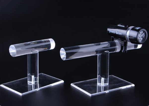 Free shipping 2pcs Bicycle lamp display stand clear acrylic flashlight shelf Bicycle Front Torch Waterproof Light holder watch jewelry rack