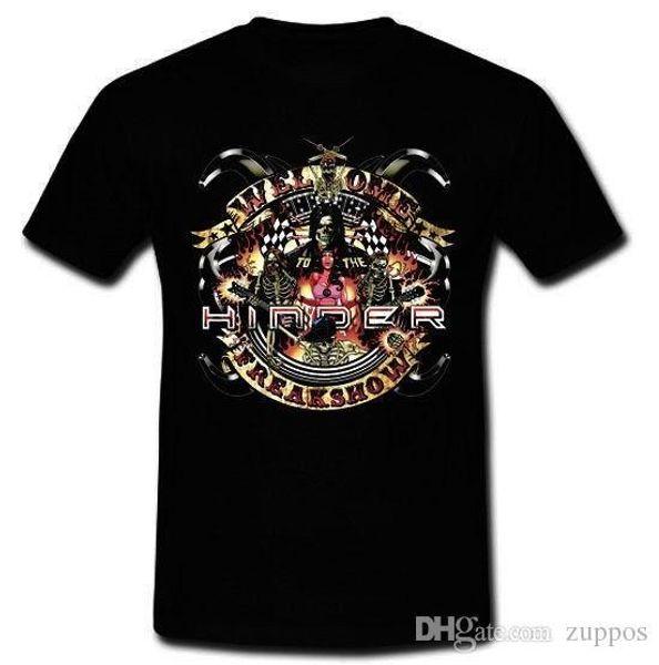 HINDER Bienvenido al Freakshow Soundgarden Grunge Banda camiseta S M L XL 2XL Camisetas de algodón Envío gratis