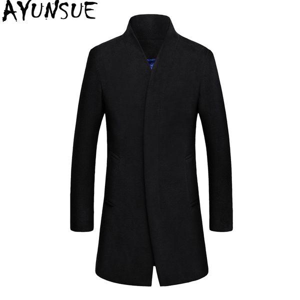 AYUNSUE Wollmantel Männer Korean Style Mens Wollmantel Mantel Männer Plus Größe Winter Männliche Jacke Herren Mäntel Abrigo Hombre KJ239