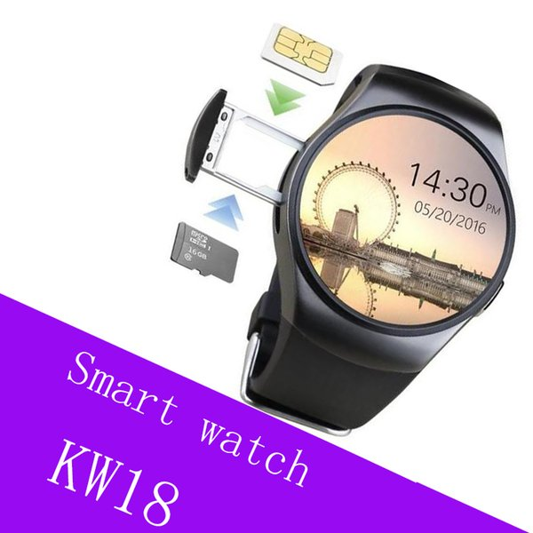 KW18 Bluetooth smart watches full screen Support SIM TF Card Smartwatch Phone Heart Rate for apple gear s2 huawei