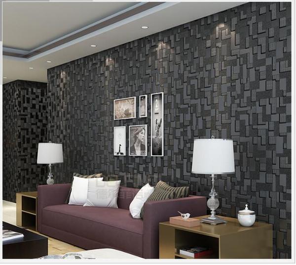 White Black 3d Wallpaper High Quality Mosaic Modern Living Room Sofa TV  Backdrop Wallpaper Bedroom Non Woven Wallpaper Roll Wallpaper Girls  Wallpaper ...