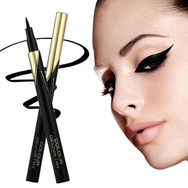 Moda profesyonel Siyah Su Geçirmez Sıvı Eyeliner Uzun ömürlü Göz Kalemi Kalem Güzel Makyaj Kozmetik Araçları makyaj seti