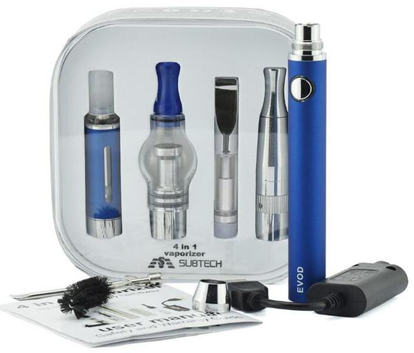 4 in 1 kit di vaporizzatori multi atomizzatori MT3 batterie al quarzo padella vetro CE3 cera secca erba olio denso e liquido 4in1 serbatoio Vape penna e sigarette DHL