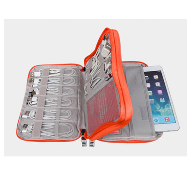Super Waterproof Double Layer Cable Storage Bag Hard Drive Organizador Flash Drives Digital Gadget Travel Bags Case