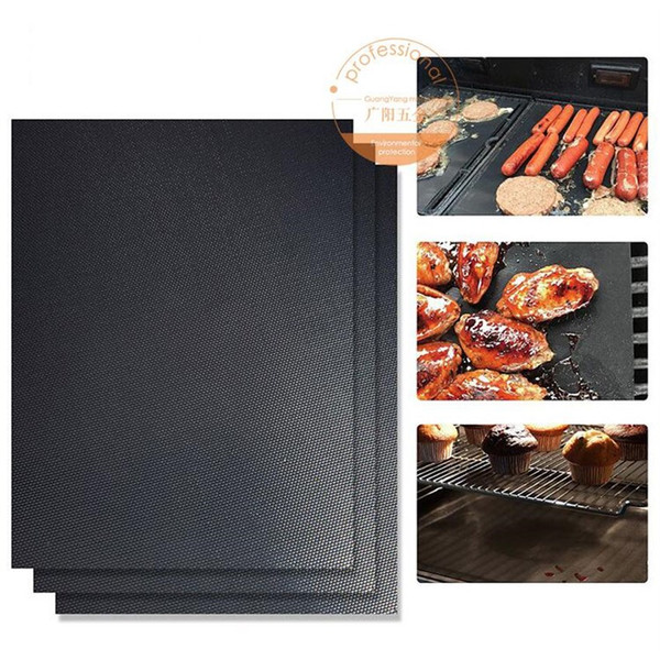 2018 Non-Stick BBQ Grill Mats Thick Durable 33*40CM Gas Grill barbecue mat Reusable No Stick BBQ Grill Mat Sheet Picnic Cooking Tool