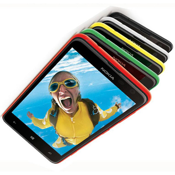 Remodelado original nokia lumia 625 windows phone 4.7 polegada Dual Core 8 GB ROM 5MP Câmera GPS WIFI Desbloqueado Telefone Móvel Inteligente Livre DHL 5 pcs