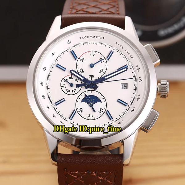 0dc53c1a105 10 cores 42mm data ingenieur família mostrador branco iw380701 automático  mens watch pulseira de couro de